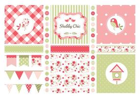 Free Vector Shabby Chic Thema