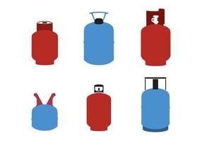 Gas-Zylinder-Vektoren / Gas-Tanks