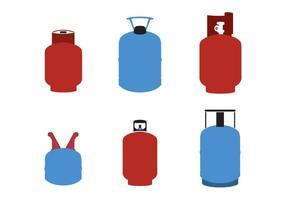 Gascylindervektorer / gastankar vektor