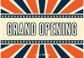 Grand Opening Retro Style Hintergrund vektor