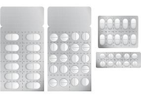 Weiße Pillen Vektoren