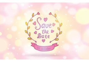 Free Save the Date Vektor Hintergrund