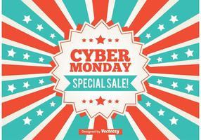 Cyber Monday Werbe-Sunburst Hintergrund