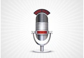 Free Retro Mikrofon Vektor
