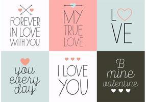 Alla hjärtans dagskort vektorer