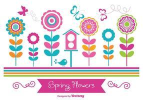 Bunte Frühlingsblumen vektor