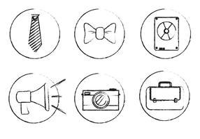 Skizzenhafte Vektor-Icons vektor
