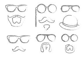 Skizzenhaftes hipster vector pack