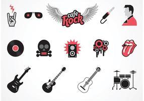 Gratis Vector Rock Musik Symboler