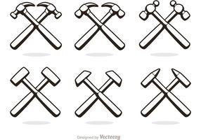 Kreuz Hammer Icons Vector Pack