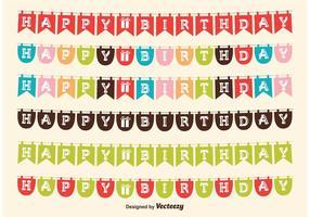 Födelsedag Flagg Banderoller vektor