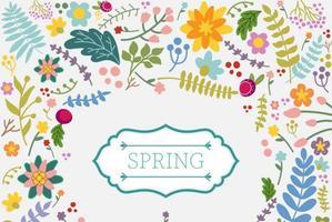 Frühling Floral Vektor Hintergrund