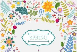 Våren blommig vektor bakgrund