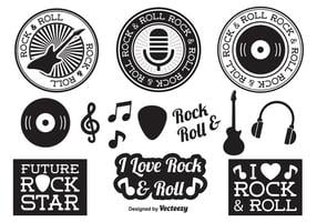 Rock-and-Roll-Elemente vektor