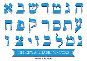 Dekoratives hebräisches Alphabet
