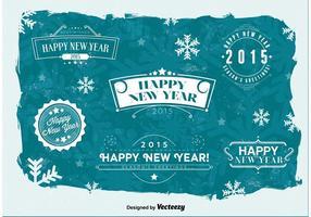 Frohe Neujahrsabzeichen vektor