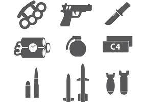 Militära ikoner vektor