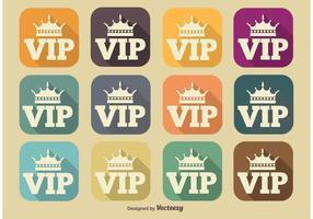 VIP Lange Schatten Icons vektor