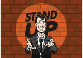 Gratis Vector Stand Up Komiker