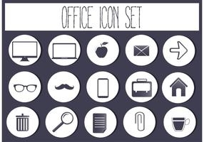 Free vector office Icon-Set