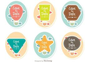 Spara Date Hot Air Balloons Vector Pack