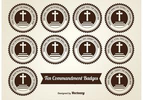 Tio Commandment Badges