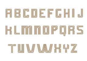 Art Deco Alphabet Vektor Pack