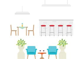 Restaurangmöbler vektor