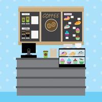 Kaffebryggare Restaurang Inredning vektor