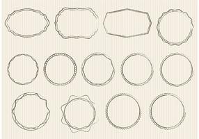 Skizzenhafte Ornament Vektoren und Abzeichen