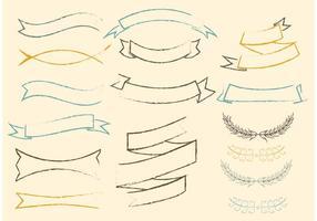 Gratis Sketchy Vector Ribbons Set