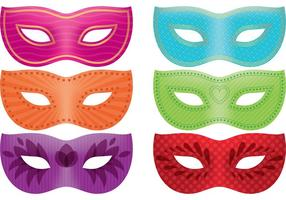Mardi Gras Maske Vektor Pack