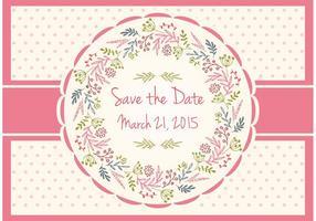 Sparen Sie die Datums-Blumenkarte vektor