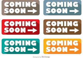 Simple Coming Soon Pfeil-Vektoren