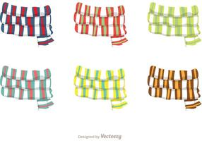 Striped Neck Scarf Vectors
