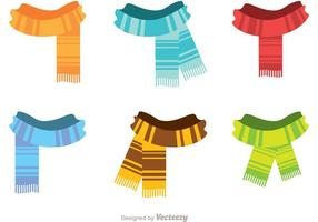 Fringed Neck Scarf Vectors