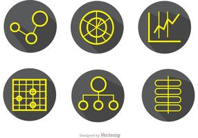 Big Data Einfache Outline Icons Vector Pack