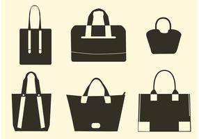 Vektor Handtasche Silhouetten