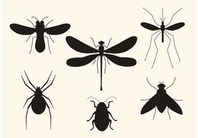 Vektor insekt silhuetter
