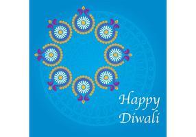 Glücklicher Diwali Hintergrund vektor