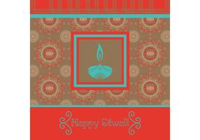 Glad Diwali Bakgrundsvektor