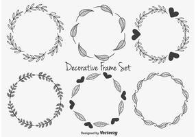 Söta dekorativa ramar vektor