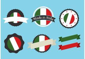 Italienska emblemsvektor vektor