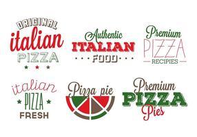 Italienska mat märken vektor