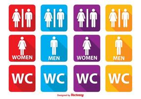 Toilettensymbole vektor
