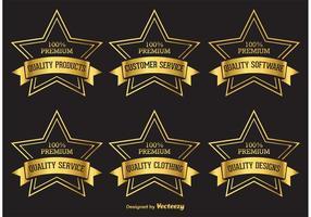 Premium Golden Star Etiketten