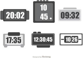 Digital-Desktop-Uhr-Vektor-Pack