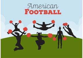 Fußball Cheerleading Hintergründe vektor