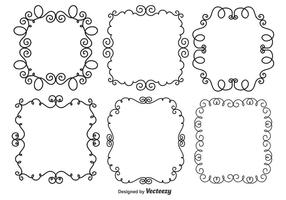 Gulliga Doodle Frames vektor