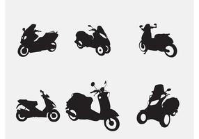 Vektor motorcyklar och skotrar